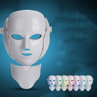 7 Colors Beauty Therapy Photon LED Facial Mask Light Skin Care Rejuvenation Wrinkle Acne Removal Face Neck Beauty Spa Instrument