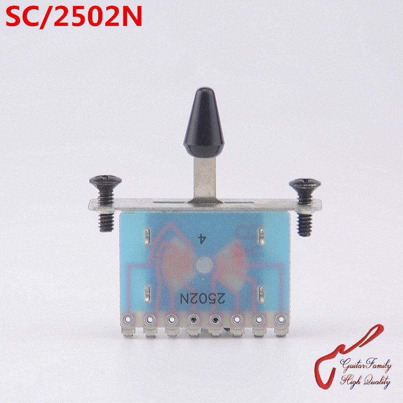1 Piece GuitarFamily 2502N  5-Way Guitar Pickup Selector Switch  ( #1229 ) MADE IN KOREA 1 set guitarfamily alnico pickup for casino jazz guitar nickel cover made in korea