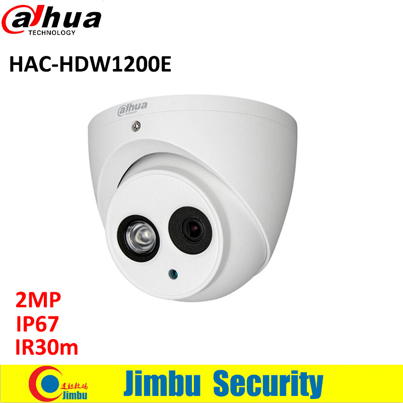 Original DAHUA HDCVI 2MP DOME Camera DH-HAC-HDW1200E  1/2.7 CMOS 1080P IR 40M cctv security camera waterproof IP66 HAC-HDW1200E dahua hdcvi 1080p bullet camera 1 2 72megapixel cmos 1080p ir 80m ip67 hac hfw1200d security camera dh hac hfw1200d camera