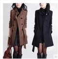 New Europe and America Fashion 2016 Coat For Women Winter Long Ladies Jackets Wool Coats