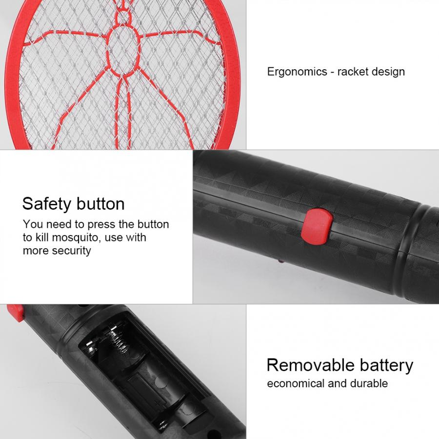 Image 2 - Summer Hot Cordless Battery Power Electric mug killer Fly Mosquito Swatter Bug Zapper Racket Insects Killer Home Bug Zappers 46-in Bug Zappers from Home & Garden