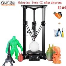 Sinis T1 3d Printer DIY Kit  Easy assemble Aluminum Heating Plate Hotbed Reprap i3 Desktop 3D Machine With One Extruder