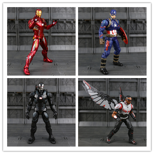 Disney Marvel 7 Captain America 3 Civil War Iron Man Vision Ant-Man Black Panther Winter Soldier Black Widow Scarlet Model Doll disney marvel 7 legends avengers civil war captain america iron man black widow black panther falcon pvc action figure toy