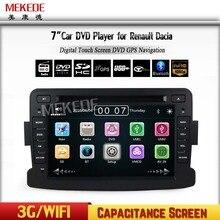 Pantalla capacitiva GPS Navigator DVD Del Coche de Radio Para Renault Duster Logan Dacia Sandero Central Cassette Player envío gratuito