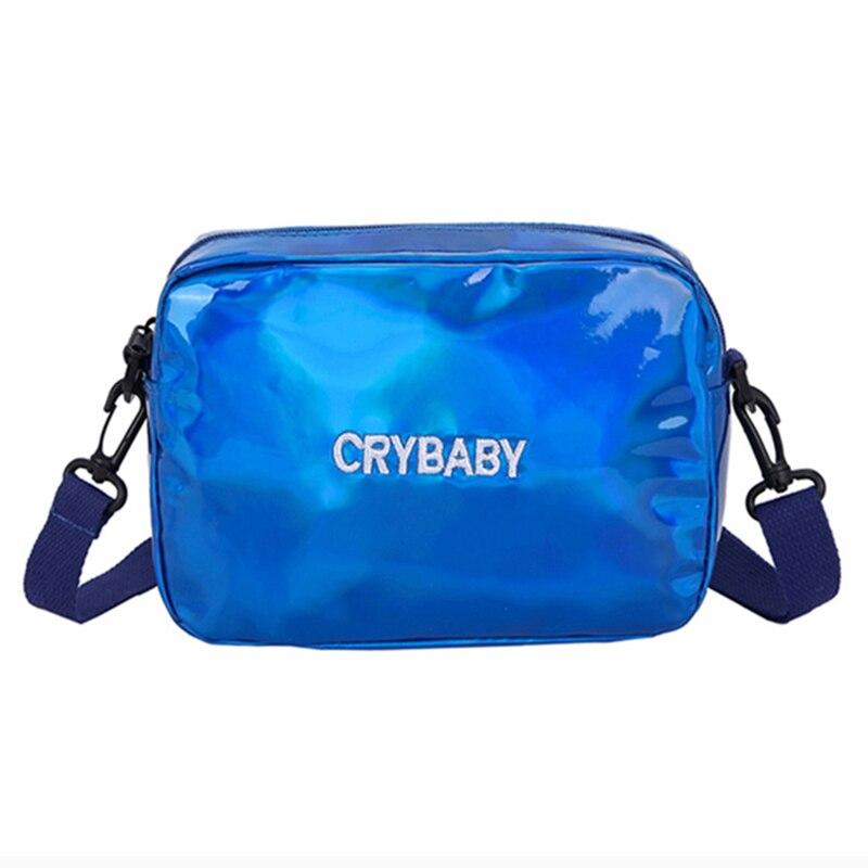 HTB13Km6bv1H3KVjSZFBq6zSMXXaE Yogodlns 2019 Holographic Laser Backpack Embroidered Crybaby Letter Hologram Backpack set School Bag +shoulder bag +penbag 3pcs