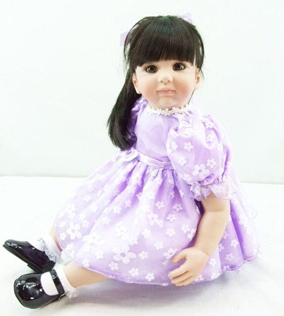 60cm Silicone Vinyl Reborn Baby Doll Toys Girls Brinquedos Lifelike Soft Princess Baby Toddler Best Christmas