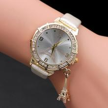 Women Quartz Wrist The Eiffel Tower Brand Bling Women Watch Luxury Sparkly Crystal Shinning Diomand Rhinestone Diamond Watch 4+
