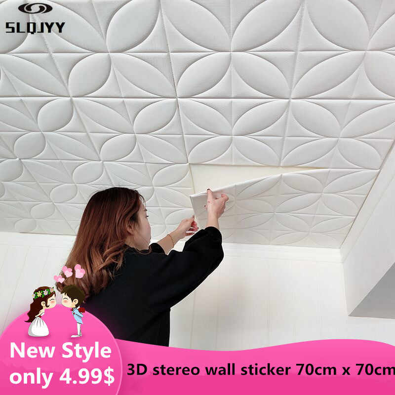 New style roof decoration wallpaper 3d stereo wall stickers waterproof ceiling sticker bedroom ceiling self-adhesive wallpaper
