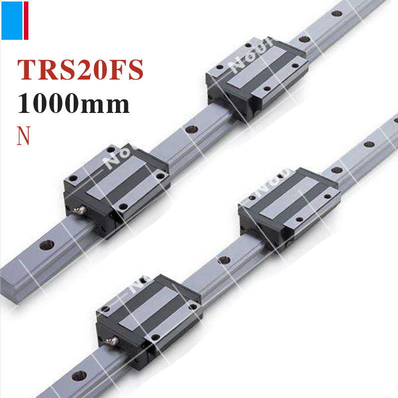 TBI TR20N 1000mm linear guide rail with TRS20FS slide blocks stainless steel CNC sets TBIMOTION tbi cnc sets tbimotion tr20n 600mm linear guide rail with trh20fl slide blocks stainless steel high efficiency