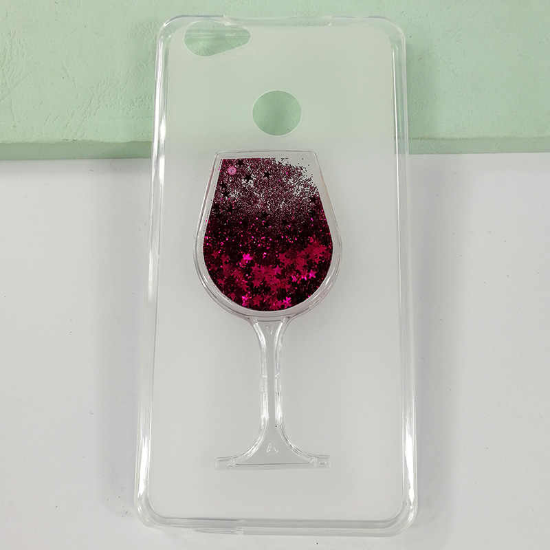 Baru Pasir Isap Rhinestone Gelas Anggur Pola Pelindung Case untuk Dexp Ixion MS255 Cover Lembut TPU Silicone Back Cover