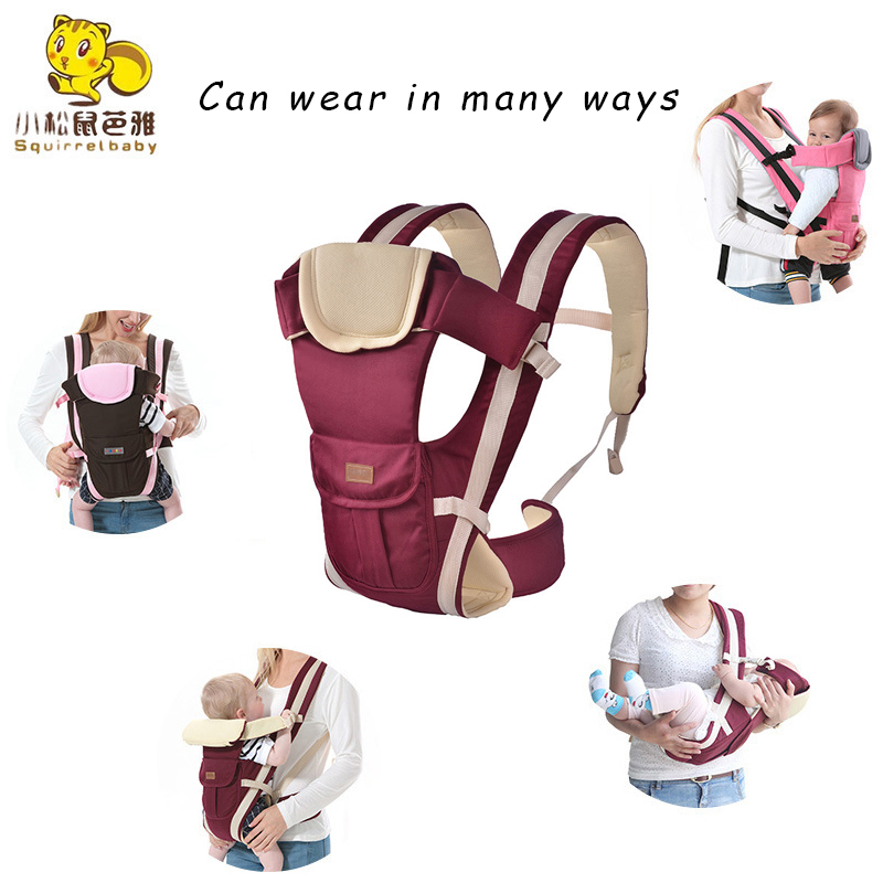 0-36 Months Baby Carrier Multifunctional Front Facing & Front Carry Comfortable Sling Backpack Pouch Wrap Infant Kangaroo Bag Fashionable And Attractive Packages Activity & Gear