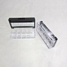 Estuche sombra de ojos 10 rejillas lápiz labial paleta envase cosmético vacío caja de plástico para lápiz labial Gel de labios brillo de labios caja de embalaje 5 uds