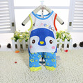 2016 New Boys Clothing Sets Baby Kids Clothes Suit Children  Sleeveless Striped T-Shirt +Pants Baby Boy Clothes Set