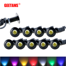 GEETANS 1pcs Ultra thin 2.3CM 12V Car led DRL Daytime Running light source waterproof Eagle eye lamp /Parking Warning Light  AE