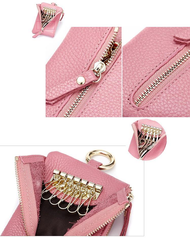 Women genuine leather key wallet 13