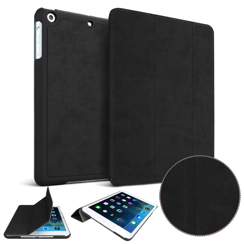 - Matte PU Deer Leather Case For Apple 2017 New Ipad 9.7 Inch Original 1:1 Case Smart Sleep Wake Up