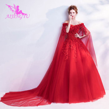 AIJINGYU 2018 V Neck free shipping new hot selling cheap ball gown lace up back formal bride dresses wedding dress TJ229