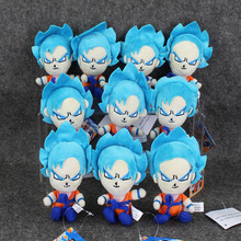 10pcs/lot dragonball Dragon Ball Z Super Saiyan Son Goku Vegeta Plush Toy keychain Pendant Soft Stuffed Doll