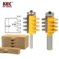 MX DEMEL 1 2 1 4 Shank Rail Reversible Finger Joint Glue Router Bit Cone Tenon