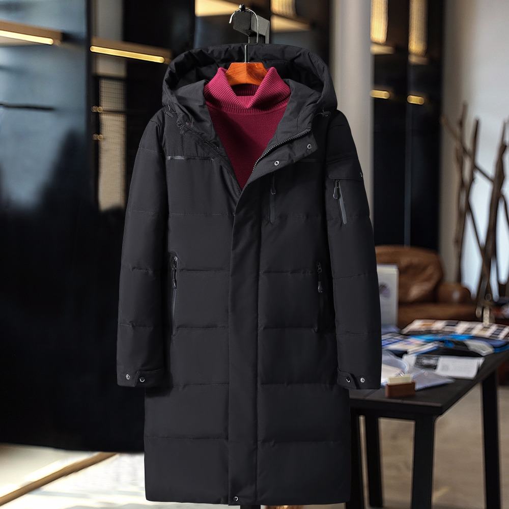 90% white duck   down   waterproof thick winter men   down   jacket brand-clothing hooded warm duck   down     coat   male puffer jacket