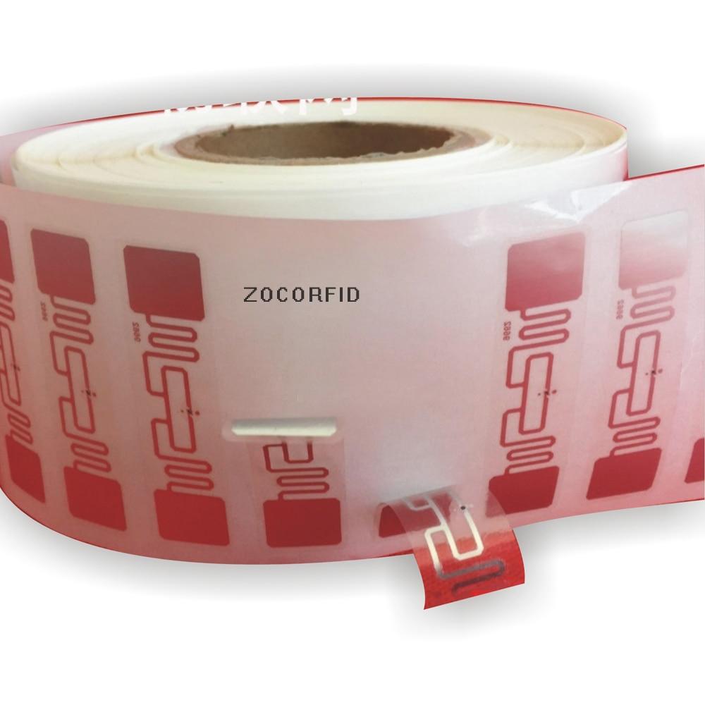 Купить с кэшбэком 1000PCS/Roll 9662 UHF RFID Sticker ISO18000-6C(6B) H3 860-960MHZ UHF RFID tag label 73.5X21.2mm