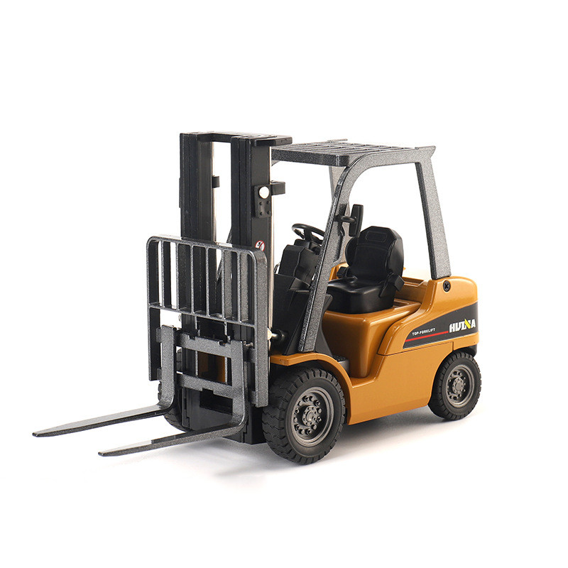 Exquisite Gift 1:50 Forklift Alloy Model,simulation Die-casting Engineering Car Collection,children's Toy Car,free Shipping