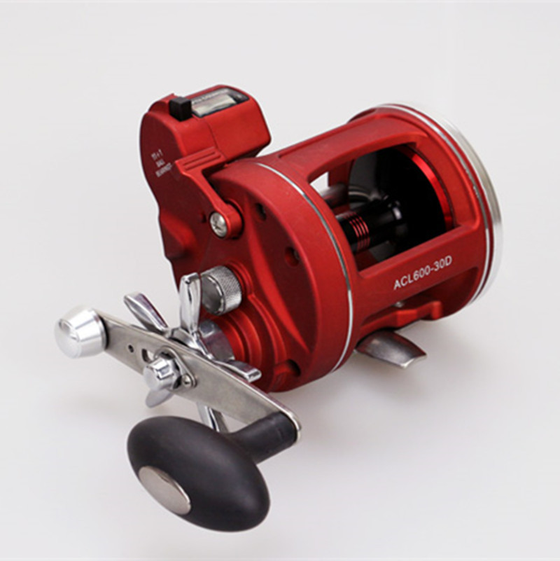 цена на Lizard Right and Left Hand Trolling Fishing Reel Boat Reel With Electric Power Line Counting Multiplier Reel Drum Fishing Reel