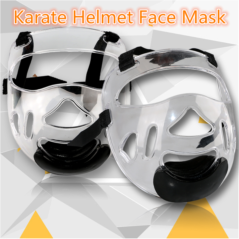 2017 new Removable helmet mask for taekwondo karate face mask protector environmental material kids adult fitness sport headgear