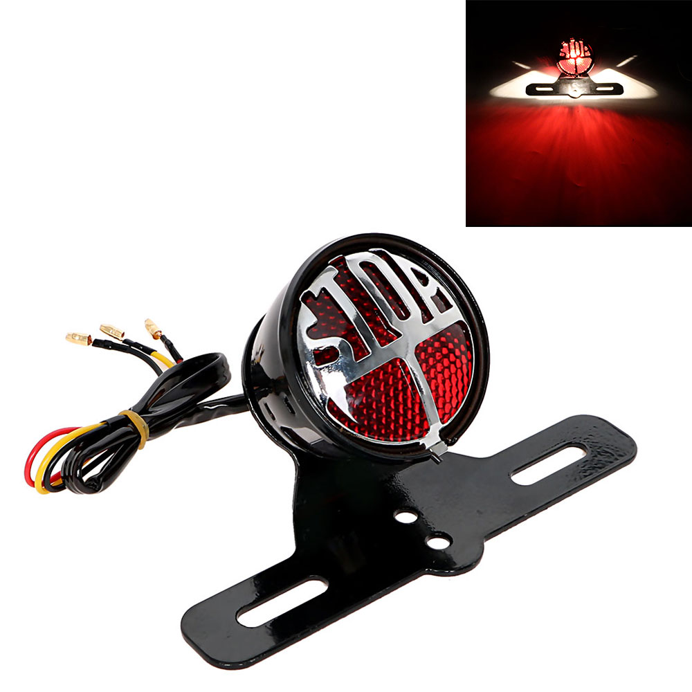 ITimo Rear Lights Moto Tail Brake Stop Light Motorcycle Lighting Indicator Lamp Cafe Racer License Plate Bracket for Harley ...
