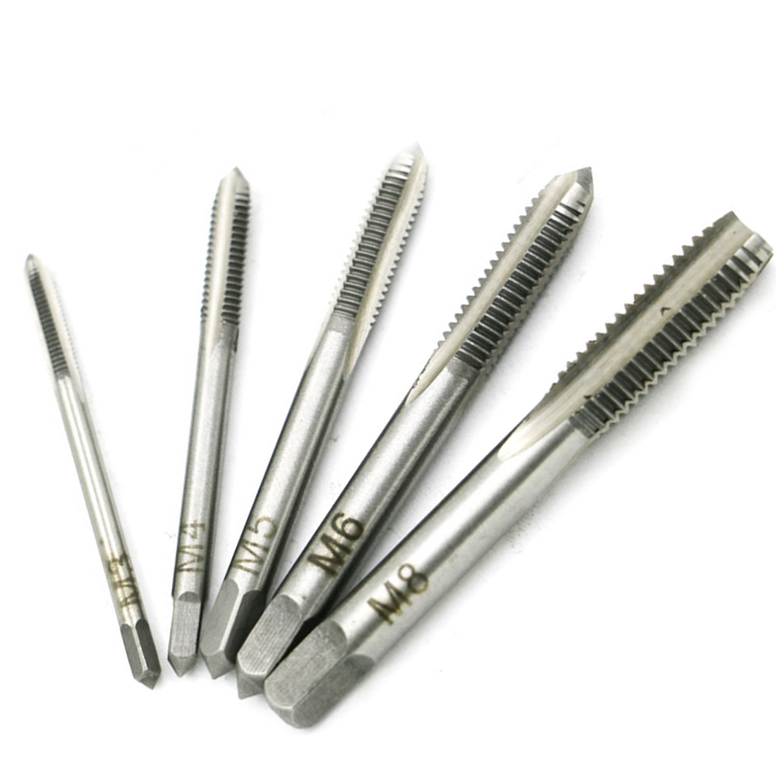 Drill Bit HSS M3 M4 M5 M6 M8 5PCS/Set Machine Spiral Point Straight Fluted Screw Thread Hand Tap Drill Screw Moving