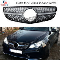W207 Front Hood Bumper Grill Mesh for Mercedes E Class A207 C207 Coupe Cabriolet 2010 2016 GT / Diamond Look Grille