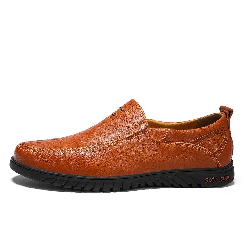 automne yellow Style Nouvelle red British Mocassins Printemps Hommes Appartements Cuir Conduite En Chaussures 37 47 Mode Taille 2018 Brown Grande Homme Noir Brown 17w7qSf