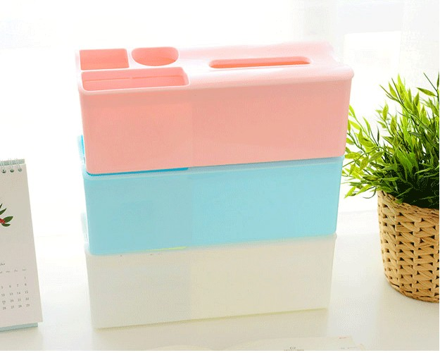 1PC Tissue Box Plastic Automatic Case Real Tissue Case Baby Wipes Press Pop-up Design Home Tissue Holder Accessories OK 0212