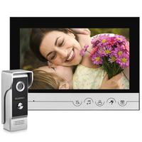 9 Inch Wired Video Door Phone System WOLILIWO Visual Intercom Doorbell With Waterproof Outdoor IR Camera For Home Security