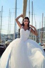 Modna suknia ślubna z odpinanym pociągiem vestidos de novia