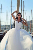 Two in one Wedding Party Dress Sheath Sheer Cap Sleeves 2 Detachable Puffy Skirts Prom Gown with Veil vestidos de novia