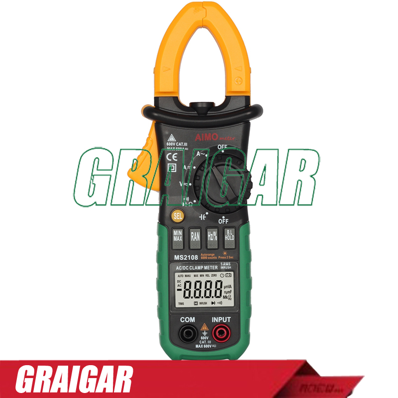 Free shipping!!  AIMOmeter MS2108 AC/DC digital Clamp Meter 6es7284 3bd23 0xb0 em 284 3bd23 0xb0 cpu284 3r ac dc rly compatible simatic s7 200 plc module fast shipping