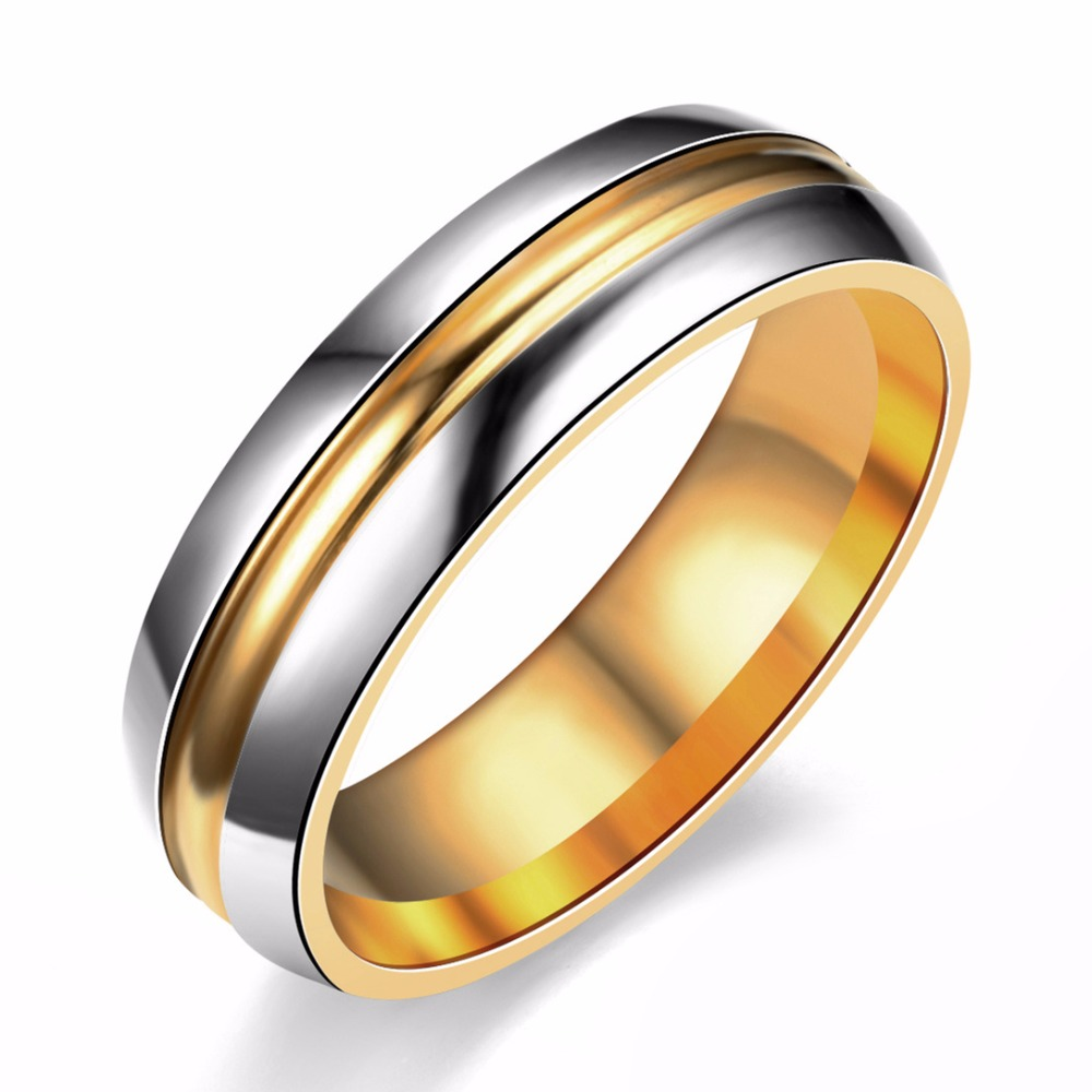Famous Brand Titanium Rings For Men Women Trajectory Ring Engagement Ring  6mm(china (mainland