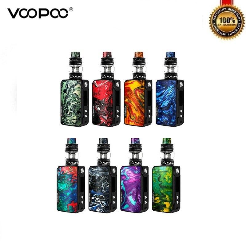 Kit Original Voopoo Mini Kit 117 W boîte Mod avec 5 ml Uforce T2 Vape réservoir P2 N1 bobine Vaper Kit vaporisateur 4400 mAh batterie intégrée