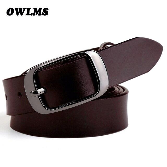 Nuevo para las mujeres cinto Jean lujo cinta ceinture Femme Cinturones Mujer  correa de cuero genuina 459852a7eecb