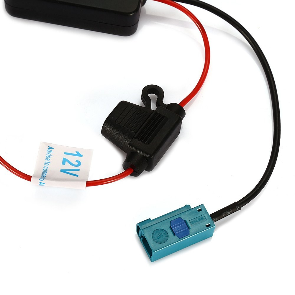 Car Radio Signal Amplifier Fm Auto Antenna Booster Ant 208 12v For Circuit Package Contents 1 X Sticker Clip