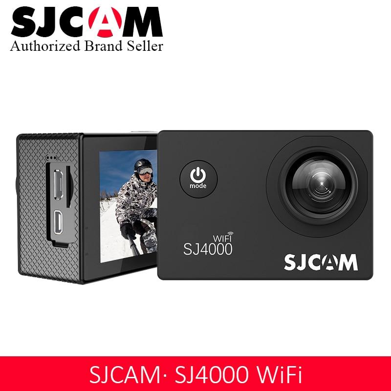 2018 chaud ~ 100% Original SJCAM SJ4000 WiFi caméra d'action Sport SJ Cam sous-marine 4 K Wifi Gyro Mini caméscope étanche DV
