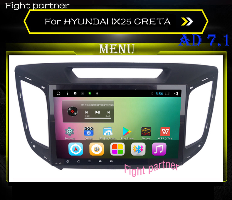 Factory price car dvd gps player For HYUNDAI IX25 CRETA car dvd gps navigation raido video audio player