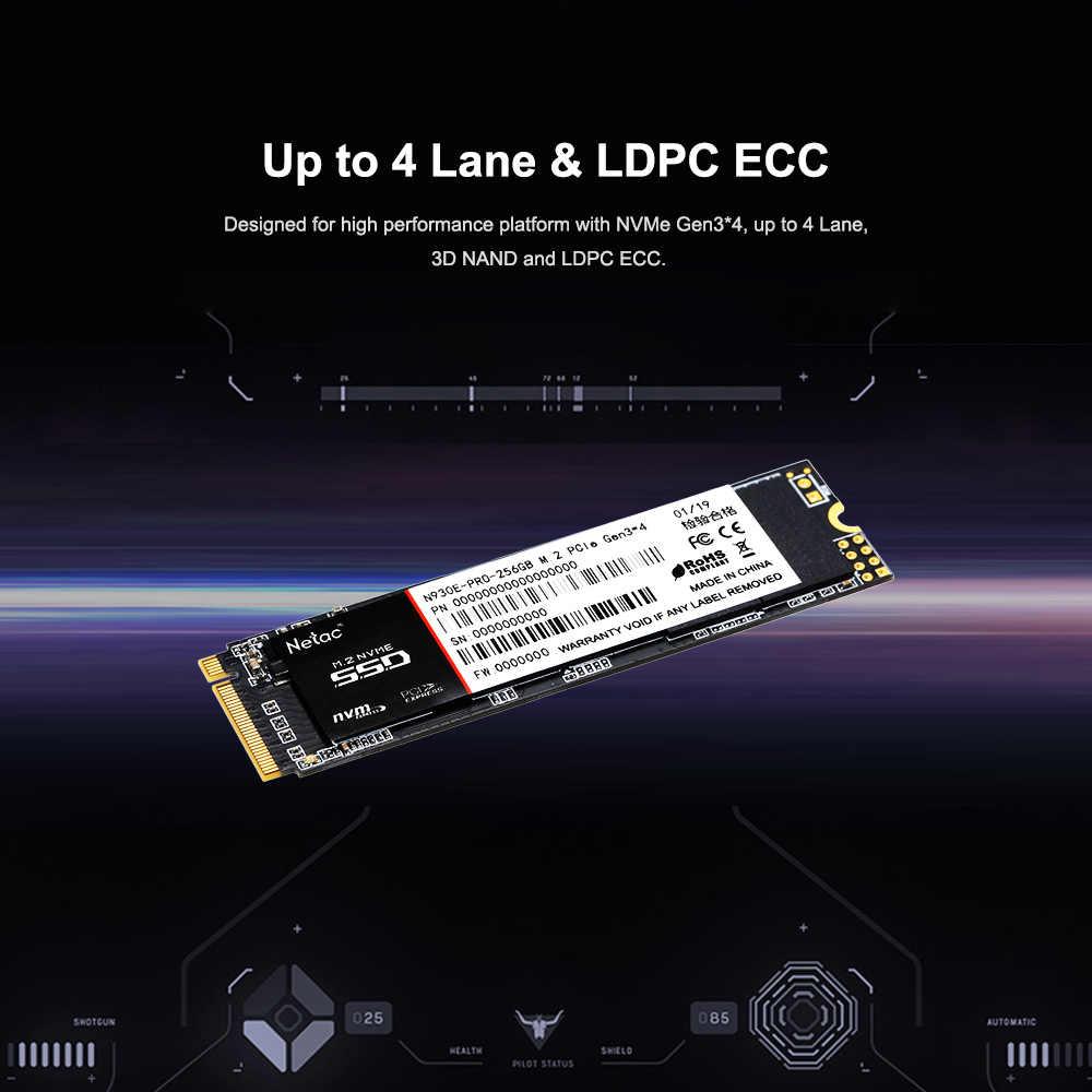 Netac N930E Pro M2 2280 SSD NVMe PCIe Gen3 * 4 512 GB M2 unidad interna de estado sólido 512 GB SSD disco duro