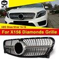 Бриллиантовая решетка гриль ABS серебро без знака X156 GLA180 GLA200 GLA250 GLA-класс для MercedesMB GLA45 вид сетка для гриля 2014-16
