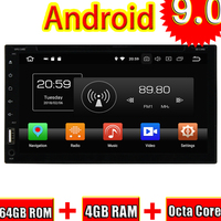 Topnavi Android 9,0 автомобильный медиацентр CD плеер для универсального аудио Радио стерео двойной DIN gps навигация 6,95 головное устройство без DVD