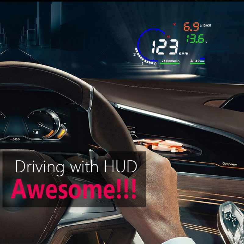 Liandlee カー Hud ヘッドアップディスプレイシトロエン Xsara ピカソ 2012-2018 安全運転画面フル機能 OBD プロジェクターフロントガラス