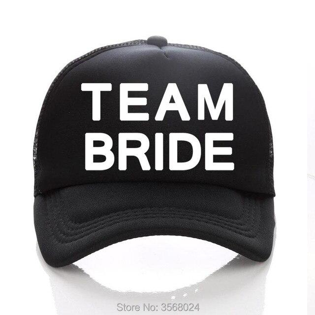 ac500f733ad TEAM BRIDE Baseball Cap Bachelorette Hats Women Wedding Prepare wear Summer BRIDE  TEAM Pink Hat Adjust Girl Trucker Caps