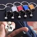 Fancy Modified Turbo Keychains Gear Head Key Chain Wave Box Keyring Key Rings Keyfob Accessories Free Shift KQS