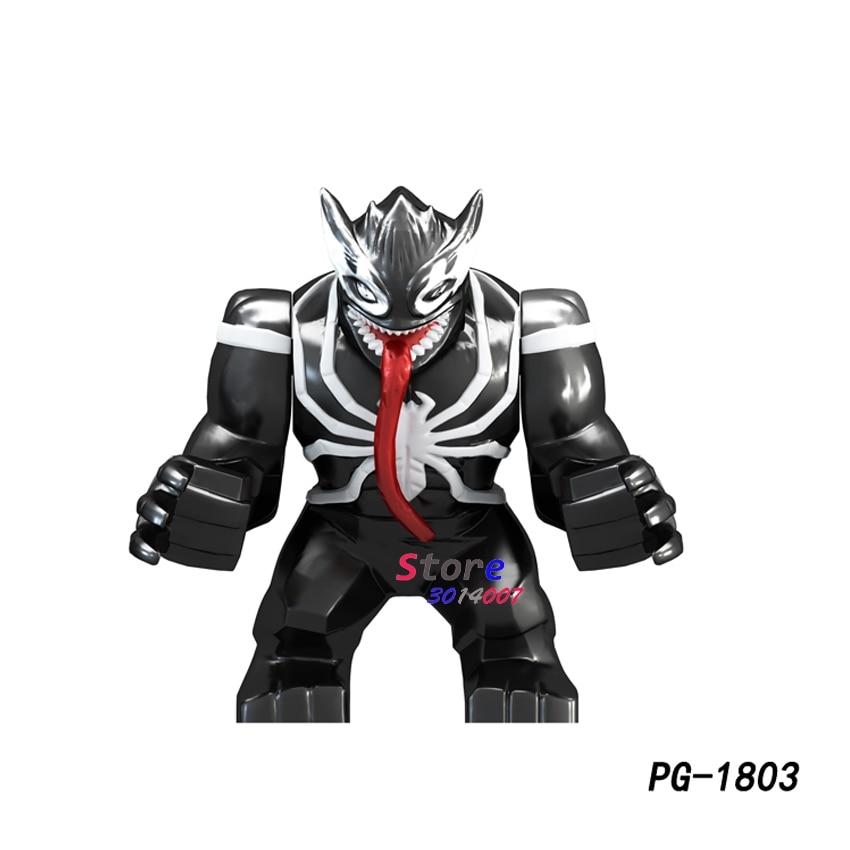 Single Big Size Avengers Infinity War Super Hero Hulk Clayface Venom Wolverine Juggernaut Anti-Venom Figure Building Blocks Toys
